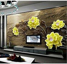 Benutzerdefinierte 3D-Tapete, Pfingstrose Blumen