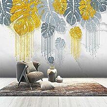 Benutzerdefinierte 3D Wandbild Moderne Kunst Gold