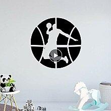 Benutzerdefinierte Basketball Wandkunst Aufkleber