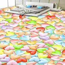 Benutzerdefinierte bunte Liebe 3D Stereo Boden
