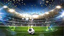 Benutzerdefinierte Fototapete 3d Fußballstadion