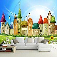 Benutzerdefinierte Fototapete Cartoon Haus