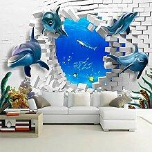 Benutzerdefinierte Fototapete Gebrochene Wand mit