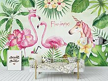 Benutzerdefinierte Fototapete Landschaft Flamingo