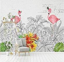 Benutzerdefinierte Fototapete Nordic Flamingo