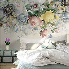 Benutzerdefinierte Fototapeten Blumen Wandmalerei