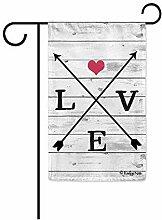 Benutzerdefinierte Garten Flagge,Liebe Pfeil Herz