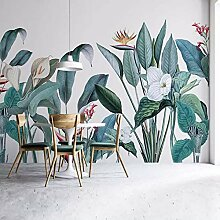 Benutzerdefinierte mural tapete 3d pflanzen vögel