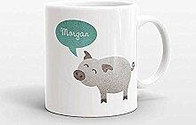Benutzerdefinierte Name Kaffeetasse Schwein