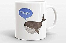 Benutzerdefinierte Name Kaffeetasse Wal