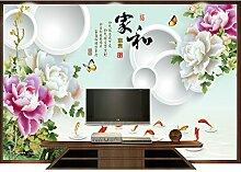 Benutzerdefinierte Produkte Chinesischen tv Hintergrund Wall Art 3D-Schlafzimmer Tapete benutzerdefinierte Wohnzimmer Wände Ideen videos Wand selbstklebende Tapete 250 cm * 175 cm