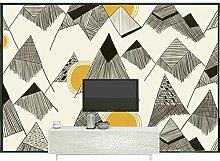 Benutzerdefinierte Produkte modernen minimalistischen tv Hintergrund Wandmalerei Ideen Wohnzimmer Schlafzimmer selbstklebende Tapete custom wall Tuch nahtlose Wallpaper 200 cm * 140 cm