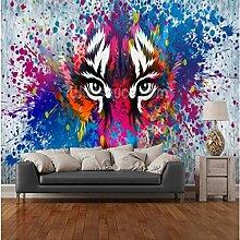 Benutzerdefinierte Retro-Tapete Tiger Art