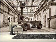 Benutzerdefinierte Retro-Tapete, Vintage-Rennwagen