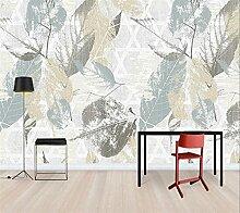 Benutzerdefinierte Tapete 3d Nordic Retro-Pflanze