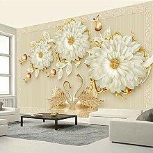 Benutzerdefinierte Tapete Juwelblume, Schwan