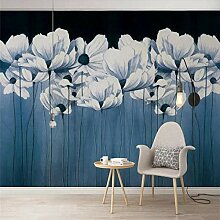 Benutzerdefinierte Tapete Nordic Nostalgic Blue