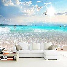 Benutzerdefinierte Tapete Strand Leinwand Wandbild