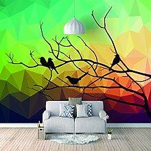 Benutzerdefinierte Tapete Vogel Leinwand Wandbild