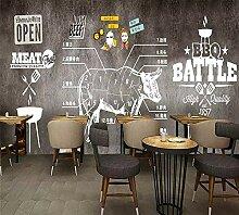 benutzerdefinierte Tapete Wandbild Steak Western