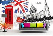 Benutzerdefinierte Vintage Tapete London Kulisse