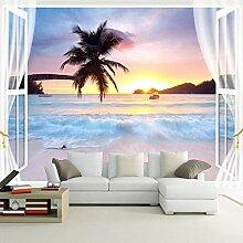 Benutzerdefinierte Wandbild Papier Fenster Meer