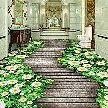 Benutzerdefinierte Wandbild Tapete 3D Blumen Pfad