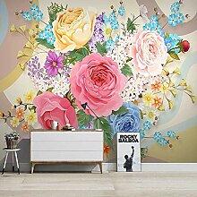 Benutzerdefinierte Wandbild Tapete 3D Blumen