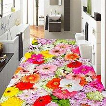 Benutzerdefinierte Wandbild Tapete Bunte Blumen