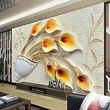 Benutzerdefinierte Wandmalerei 3D Tapete Geprägte