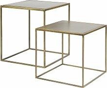 BePureHome Metallic Beistelltisch 2er Set (l) 40 X