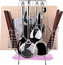 bequem Home Küche Boden Typ Multifunktions Regal Edelstahl Küche Racks Schneidebrett praktisch ( farbe : Pink )