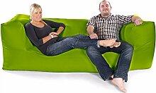 Bequeme Feste Modulare Dreisitzer Sitzsack-Olivgrün