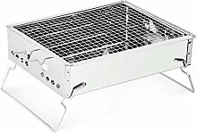 Bequeme Holzkohlegrill Edelstahl Outdoor Grill 3-5