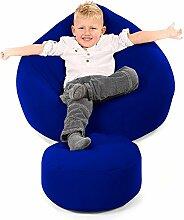 Bequeme Kinder Klassischen Sitzsack-Königsblau