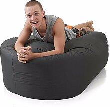 Bequeme Large150Cm Chaot Platte Bohnen Sofa Sitzsack-Grau