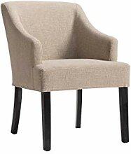 Bequeme Sessel Esszimmerstühle Mit Arm / Beige