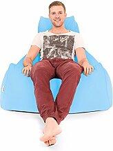 Bequeme Xxl Mansize Großen Sitzsack-Baby Blau