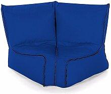 Bequeme Zip2 Modulare Eckstuhl Sitzsack 2 Stück - Königsblau