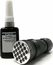 Ber-Fix® 10g UV Kleber Spezial Glas mit Lampe