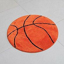 Bereich Teppich Kinderzimmer Basketball Bodenbelag Anti-Rutsch Sport Thema für Schlafzimmer, Küche, Korridor, Eingang ( größe : 110*110cm )