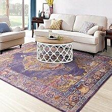 Bereich Teppich Modern Multi Blue Elfenbeinfarben Deco Klassische Orient Perser-Stil Blumen Treasure Colletion Wohnzimmer Esszimmer Schlafzimmer Teppiche Teppiche, CS027cosy-l, violett, 120cm*160cm