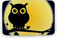 Bereich Teppich Rechteck Yellow Moon mit Owl
