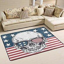 Bereich Teppich Retro Grunge amerikanische Flagge