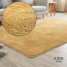 Bereichs-wolldecke europäischen, Einfache wolldecke,Läufer teppich,Sofa seite teppich,Kinder matt Pflegeleicht Für zuhause Wohnzimmer Schlafzimmer Stock Küche Maschinenwaschbar -khaki 140x200cm(55x79inch)