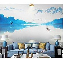 Berg Wasser Wald Tapete Wandbild Tapeten Rolle