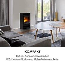 Bergamo Elektrischer Kamin 900/1800W Thermostat
