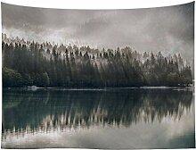 Berge Landschaft Wälder Tapisserie Wandbehang