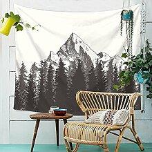 Berge Wald Wandteppich Natur Landschaft Wandbehang