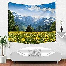 Berge Wald Wiese Wandteppich Natur Landschaft